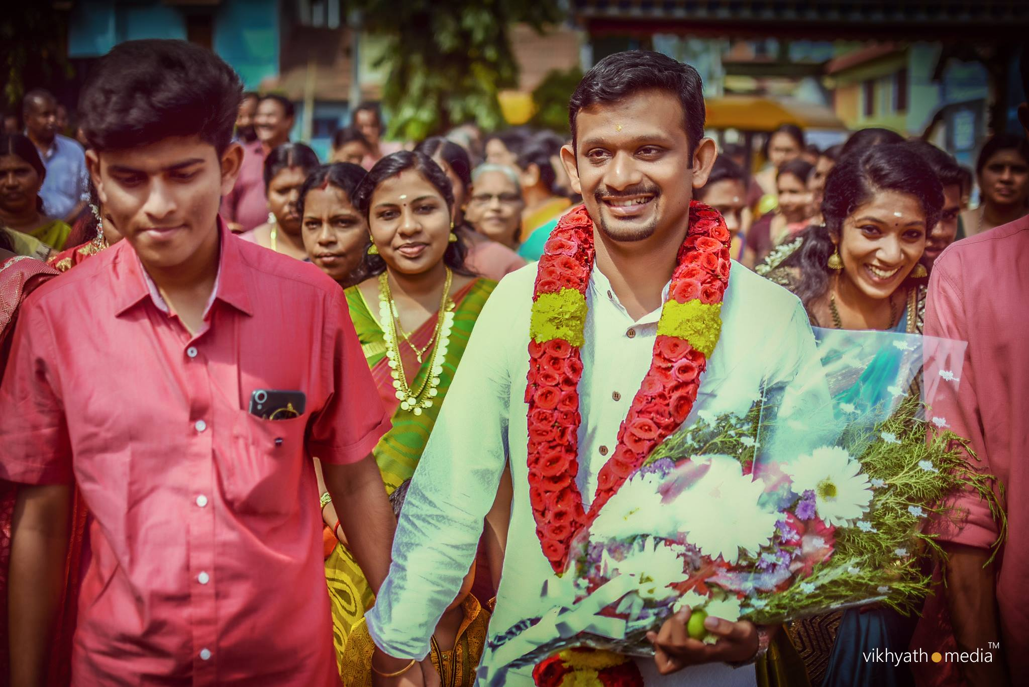Kerala Hindu wedding Groom entry