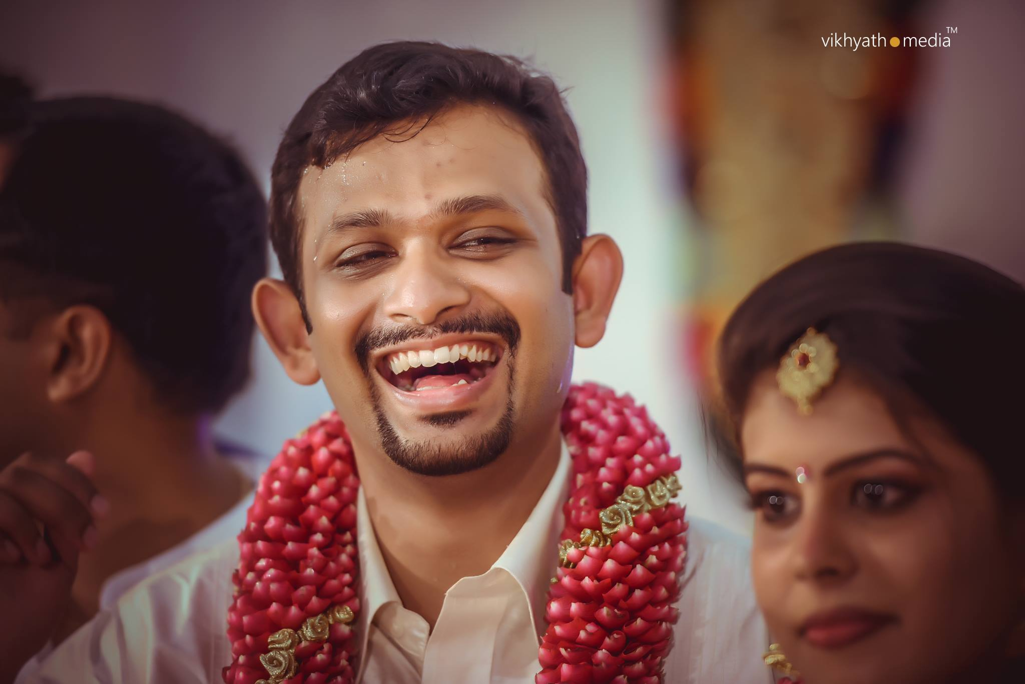 Happy groom at Kerala wedding